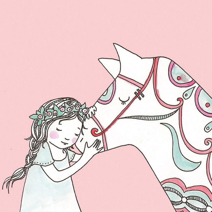 dala horse and midsommar girl