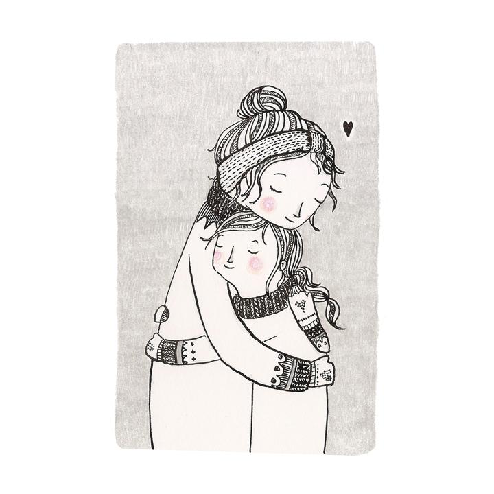 the hug mother child