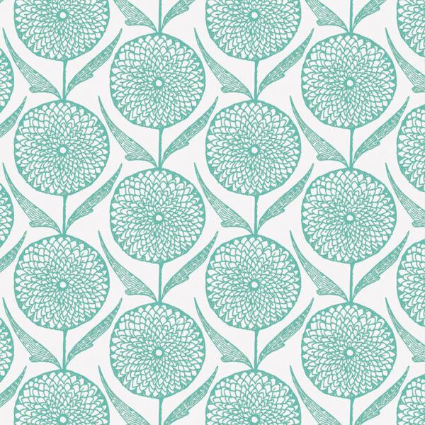 Modern Botanics print mint