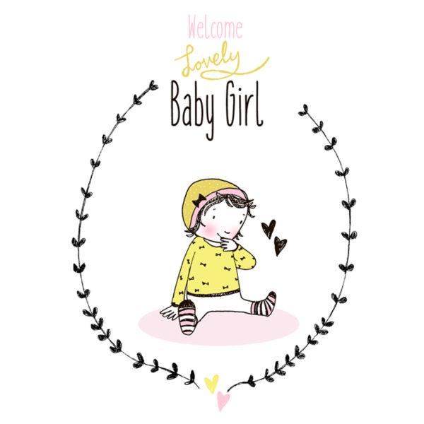 lovely baby girl. hippe kaart